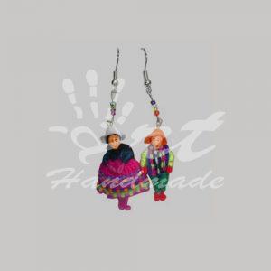 Aretes de Cholitas y Llamitas